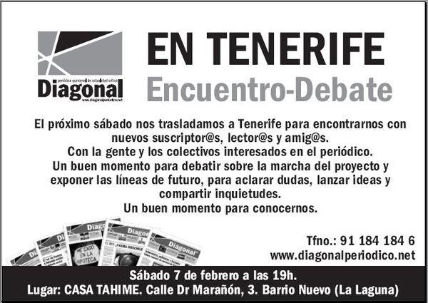 Diagonal en Tenerife