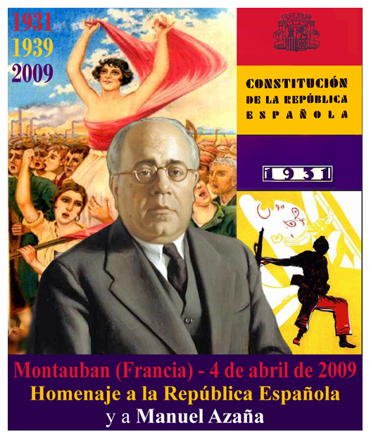 Homenaje a Manuel Azaña en el 78 aniversario de la II República