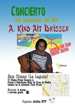 Concierto en Aguere del cantautor rifeño Kino Ait Ait Idrissen