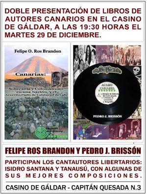Doble presentación de libros de autores canarios