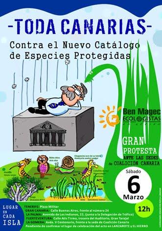 El 6 de marzo toda Canarias contra el nuevo catalogo