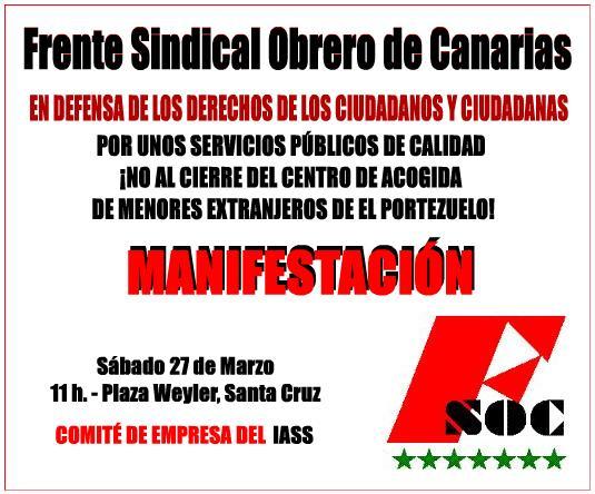 Manifestación en defensa de los derechos de los ciudadanos y ciudadanas