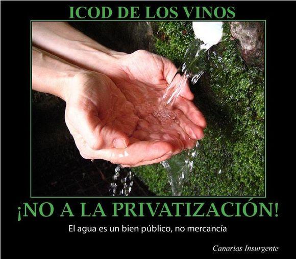 ¡No a la privatización del agua en Icod de los Vinos!
