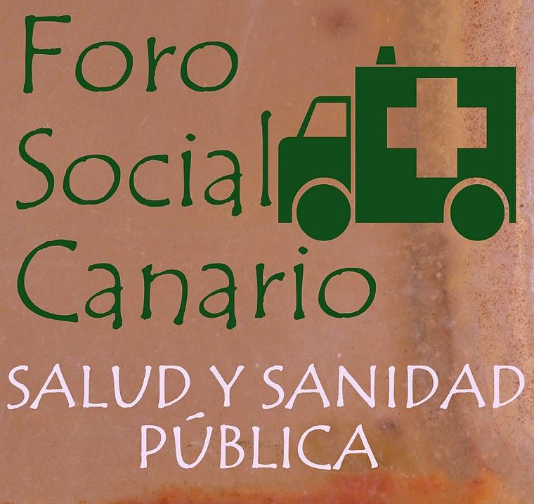 Foro Social Canario por la Salud y la Sanidad Pública