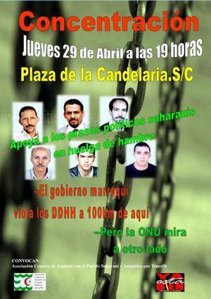 Asamblea por Tenerife ha iniciado una campaña de envío de cartas a los presos saharauis en huelga de hambre