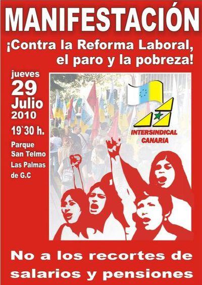 En Canarias decimos no, al paro y la pobreza