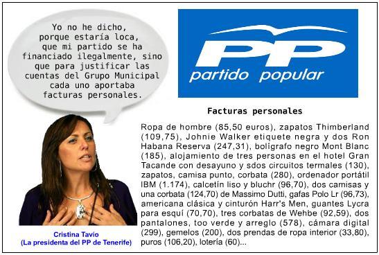 Escándalo en el PP