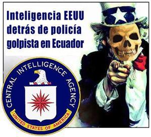 Inteligencia EEUU detrás de policía golpista en Ecuador