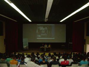 Vista general de la conferencia en el IES La Orotava(I)