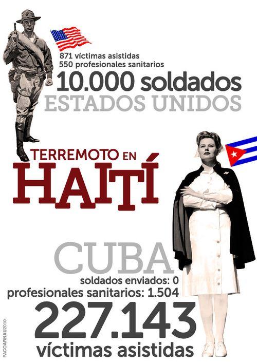Haití. Hay quien te ayuda y quien te USA