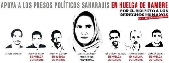 Apoya a los presos políticos saharauis en huelga de hambre