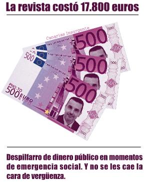 La revista costó 17800 euros