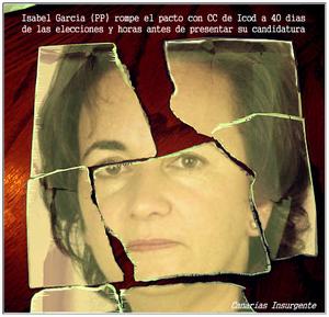 Isabel García (PP) rompe el pacto con CC de Icod a 40 días de las elecciones y horas antes de presentar su candidatura
