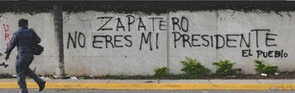 Zapatero no eres mi presidente
