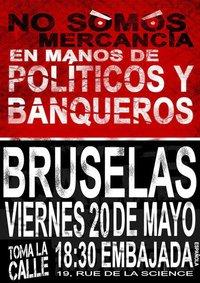 Democracia real ya. Bruselas