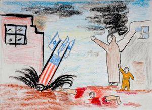 Dibujo niños palestinos