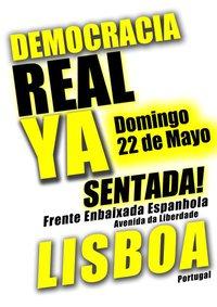Democracia real ya. Lisboa