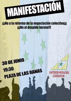 Manifestación: ¡No a la Reforma de la negociación colectiva!