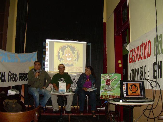 De izquierda a derecha Samir Delgado, Agapito de Cruz y Mónica Díaz