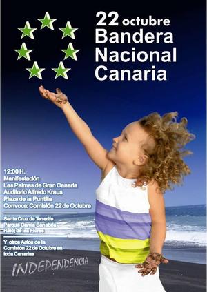 22 octubre Bandera Nacional Canaria
