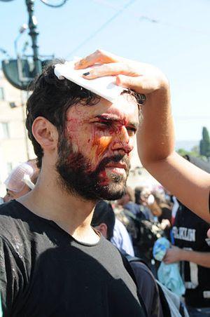 Represión en Grecia