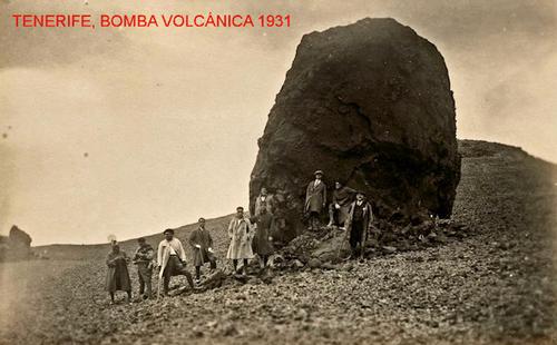 Tenerife. Bomba volcánica 1931