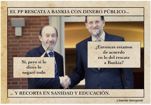 El PP rescata Bankia con dinero público