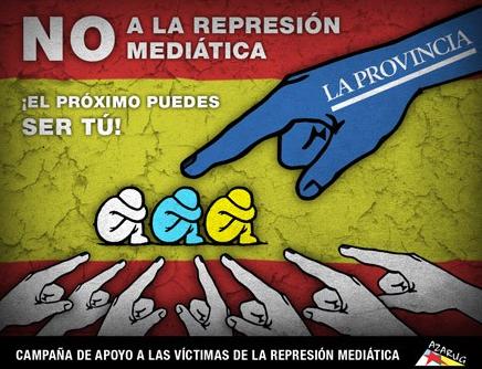 No a la represión mediática
