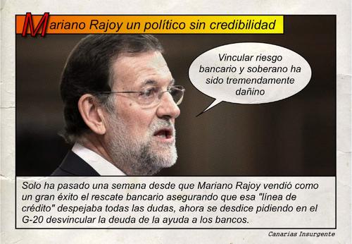 Mariano Rajoy político sin credibilidad