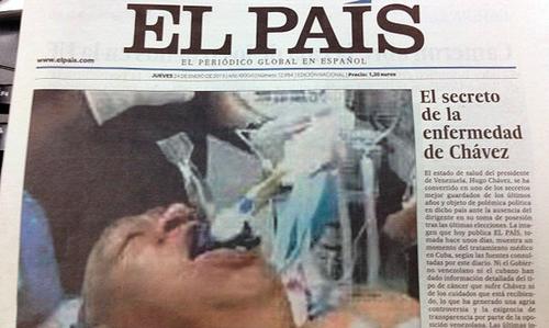 El presidente Chávez la falsa fotografía y El País