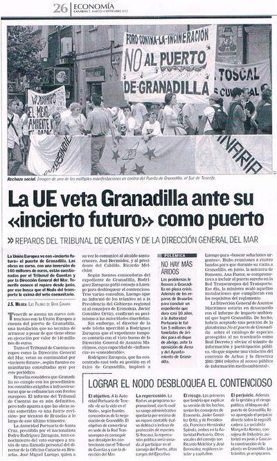 La UE veta Granadilla