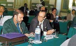 Antonio Cubillo en la OUA en 1990