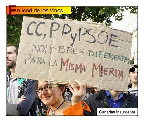 En Icod de los Vinos: CC, PP y PSOE nombres diferentes para la misma mierda