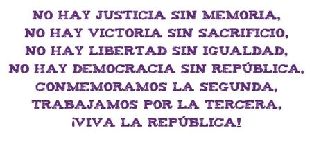 No hay justicia, sin memoria...