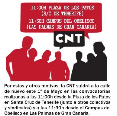 1º de Mayo. CNT Tenerife - Gran Canaria