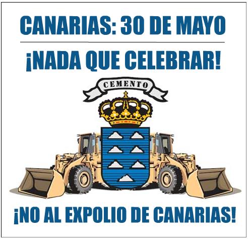 No al expolio de Canarias