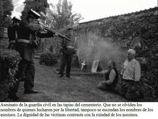 Asesinato de la guardia civil en las tapias del cementerio