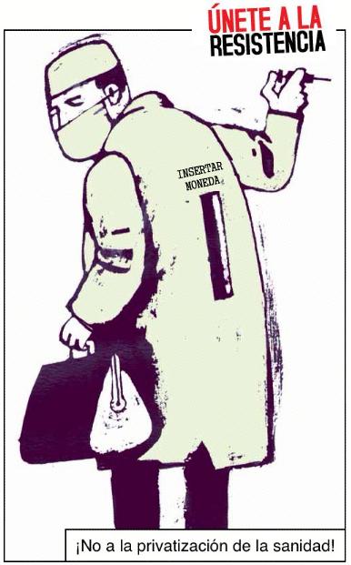 No a la privatización de la Sanidad