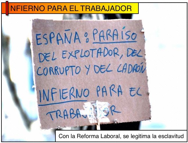 Con la Reforma Laboral se legitima la esclavitud