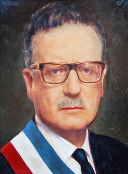 D. Salvador Guillermo Allende Gossens, Presidente democrático y constitucional de la República de Chile el 11 de septiembre de 1973