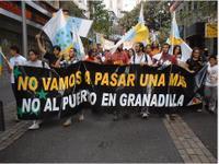 Tenerife. Movilizaciones contra el puerto de Granadillas en noviembre de 2005