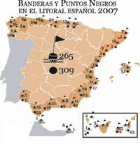 Banderas y Puntos Negros en el Litoral Español 2007