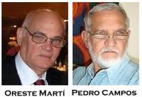 Orestes Martí y Pedro Campos
