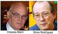 Orestes Martí y Silvio Rodríguez