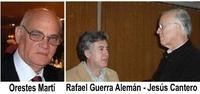 Dialogando. Orestes Martí, Rafael Guerra Alemán y Jesús Cantero