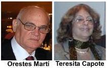 Dialogando Orestes Martí y Teresita Capote