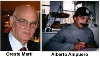 Orestes Martí y Alberto Ampuero