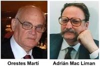 Dialogando. Orestes Martí y Adrián Mac Liman.