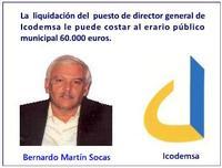 La  liquidación del  puesto de director general de Icodemsa le puede costar al erario municipal entre 60.000 y 65.000 euros