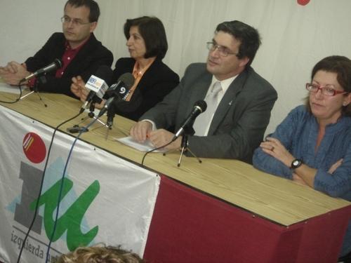 Imagen de la presentación de las candidaturas de Izquierda Unida Canaria en la provincia de Las Palmas